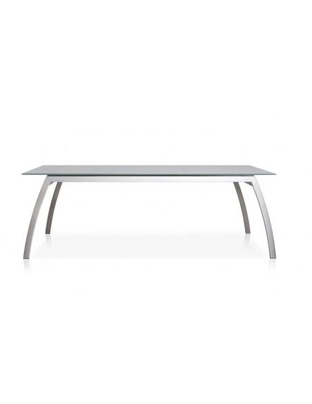 table de jardin luxe inox plateau hpl 280 cm fornix f1