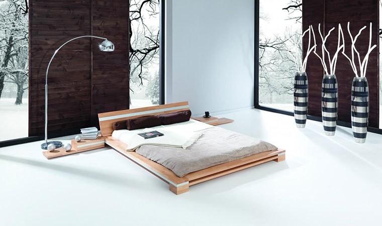 lit bas design en bois massif naturel himalaya
