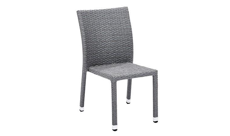 chaise de jardin en resine tressee grise wicker
