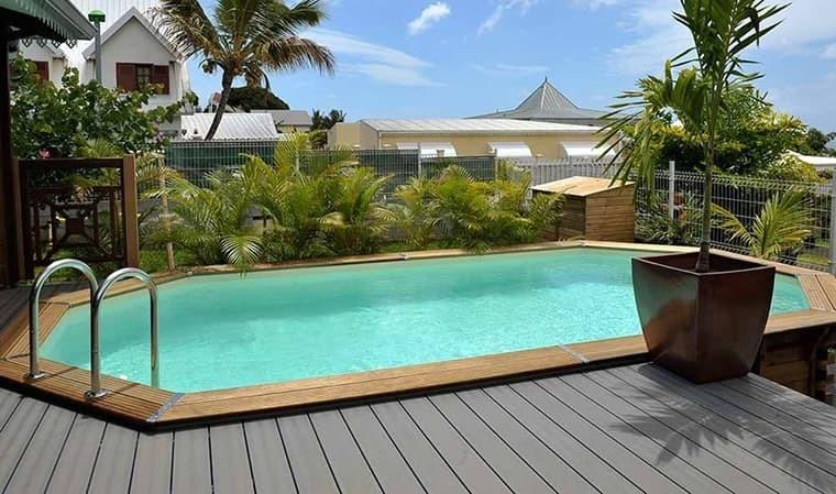 piscine octogonale allongee en bois haut de gamme grenada 600