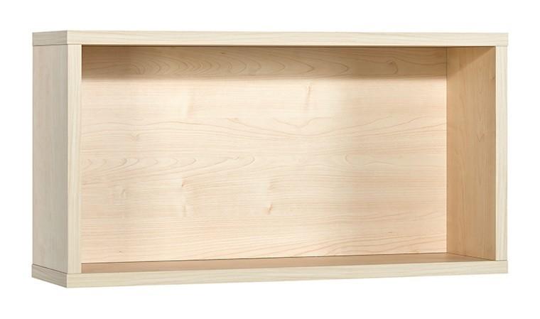 etagere murale rectangulaire couleur bois frame