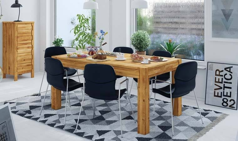 table en chene massif avec rallonge newik