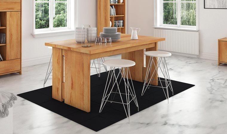 table design moderne en hetre massif avec rallonge norvig