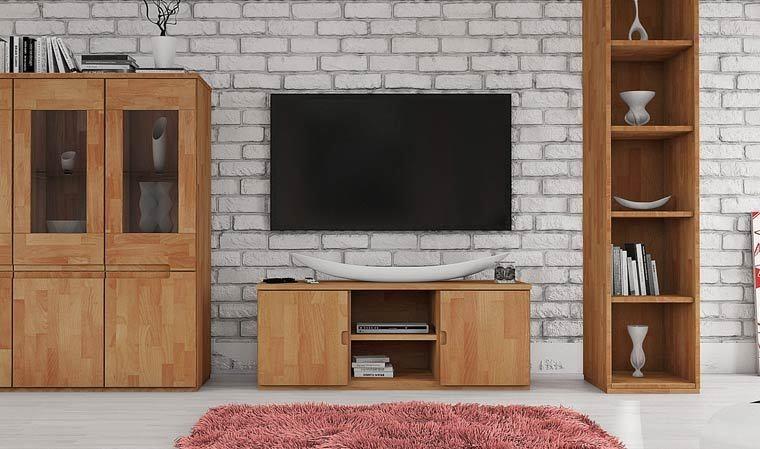 meuble tv bas en hetre ruby