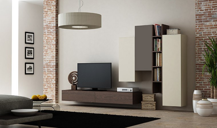 ensemble suspendu meuble tv rangements espace 105
