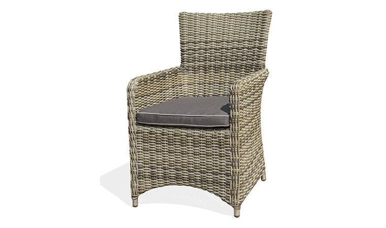 fauteuil de jardin en resine tressee demi ronde bali