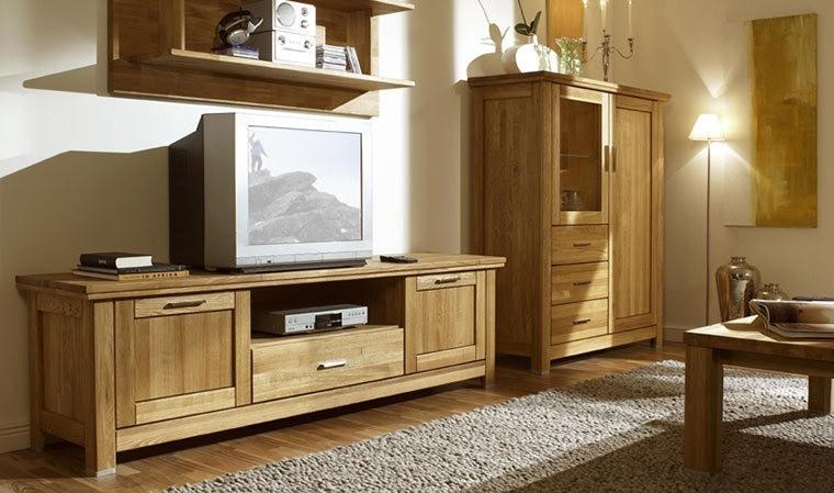 meuble tv en chene massif porto