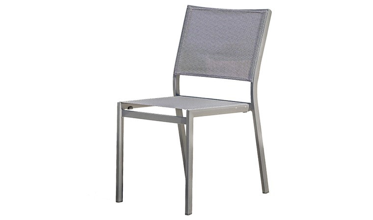 chaise de jardin empilable anthracite et gris fonce stockholm