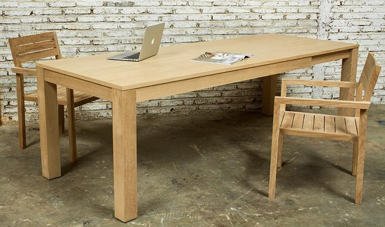 table a manger extensible chene massif 180 235 cm kubico