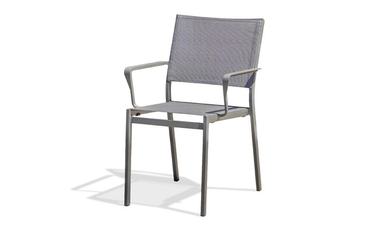 fauteuil jardin empilable aluminium anthracite stockholm