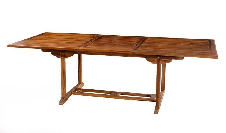 grande table jardin teck huile extensible 180 240 cm lanta