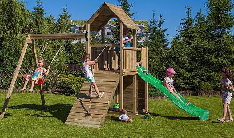 portique complet de jeux plein air en bois carol 3