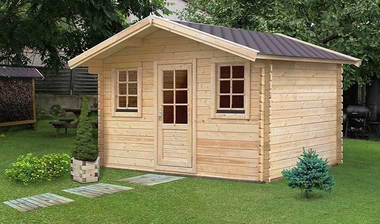chalet de jardin bois massif avec plancher 10m2 charme 10