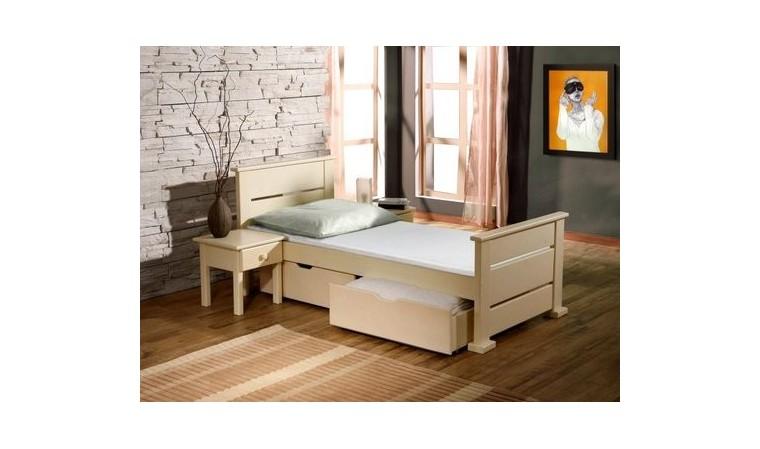 lit enfant bois massif couleur vanille lea