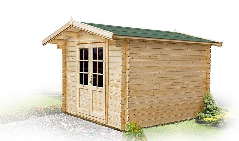 petit chalet de jardin en bois toit en shingle 5m2 mahonia