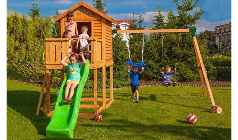 Aire De Jeux Avec Balanoire Et Toboggan Pour Enfants
