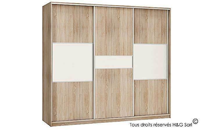 Armoire Dressing Design 3 Portes Coulissantes Pas Cher