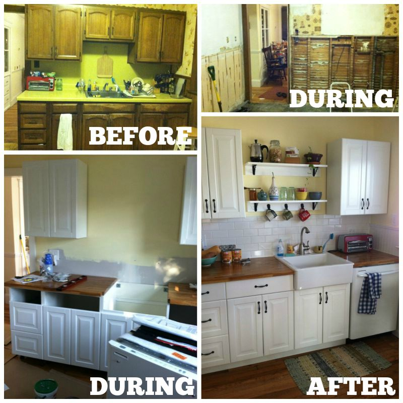 DIY kitchen cabinets  IKEA vs  Home Depot   House and Hammer ikea kitchen before and after