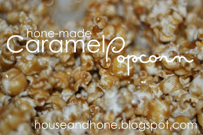 Hone-made Caramel Popcorn