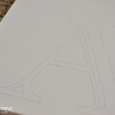 DIY Initial Canvas
