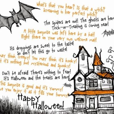 Fun Halloween Treat Poem & Printable