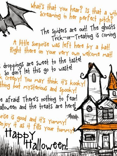 Fun Halloween Treat Poem & Printable