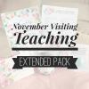 November Visiting Teaching Message Handout