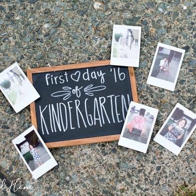 Abigail's First Day of Kindergarten