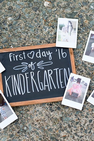 Abigail's First Day of Kindergarten