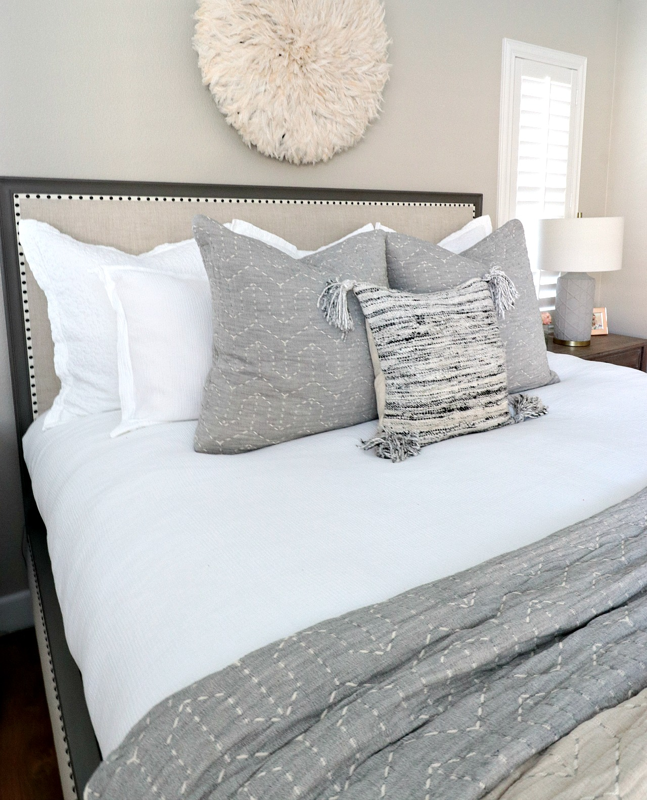 purchase queen bed with euro shams