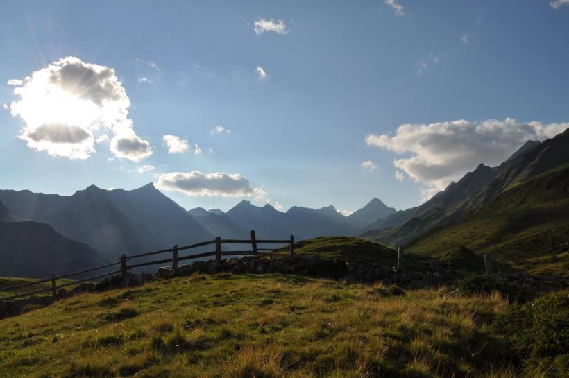 Blick ins Debanttal am Wiener Höhenweg richtung Wangenitzseehütte
