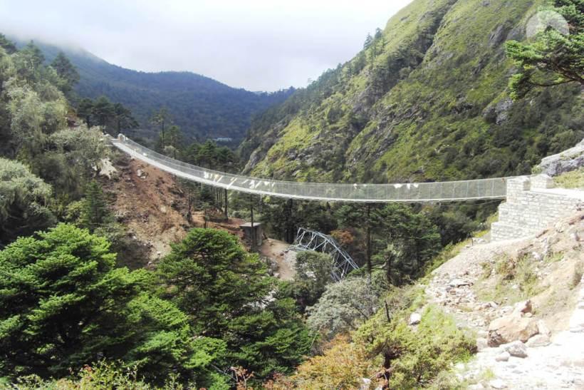 Hängebrücke Tengboche