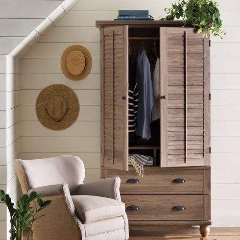 Pinellas Armoire | Recreate This Space: Beach House Bedroom | House by the Bay Design