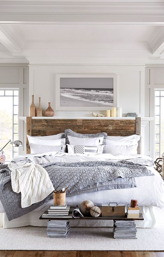Recreate this space: Beach House Bedroom from Lexington Company | House by the Bay Design