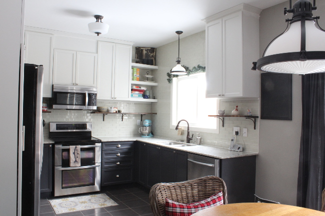 Renovating a new-build house and why it's totally okay   our builder grade kitchen after DIY renovation