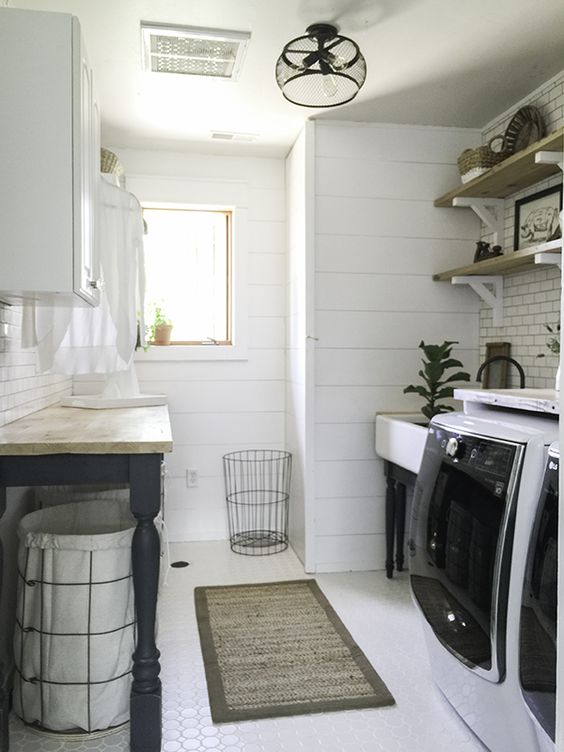 Laundry Room Inspiration   $100 Room Challenge   House by the Bay Design
