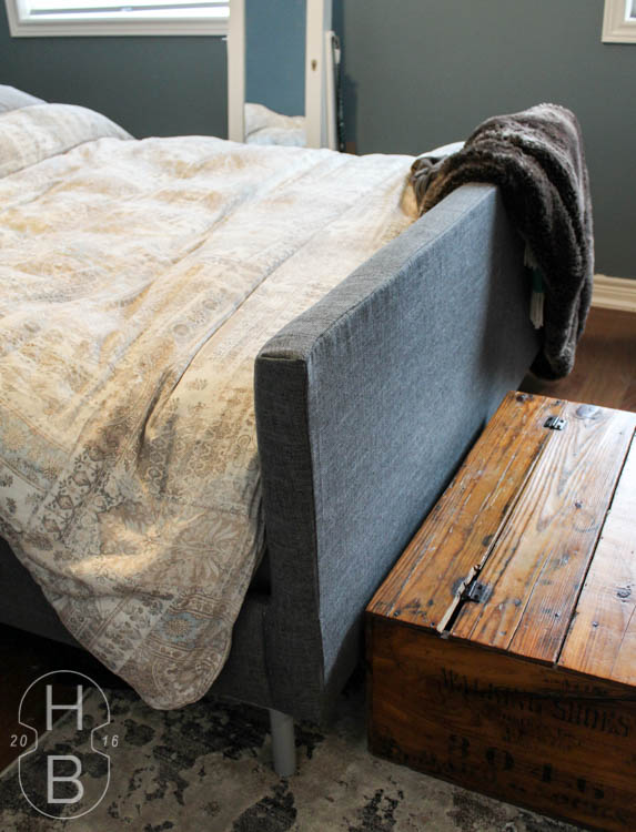 DIY Ikea Bed Makeover | One Room Challenge | House by the Bay Design