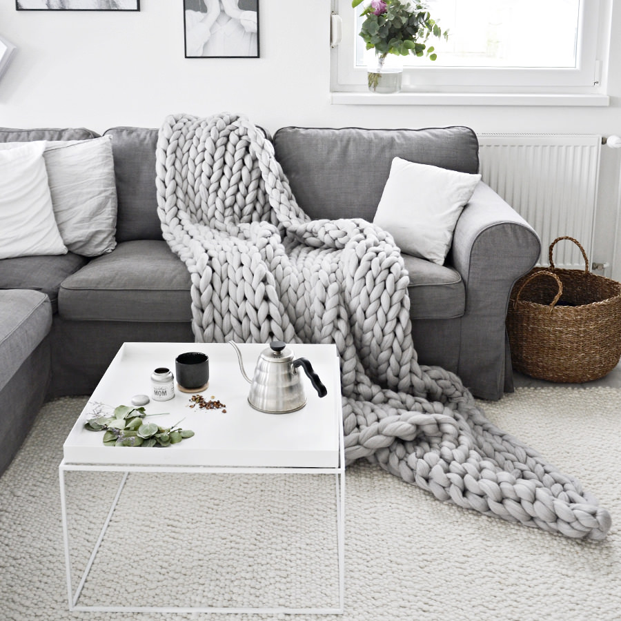 Arm Knit Blanket | 2018 Home Design and Decor Trends | House by the Bay Design