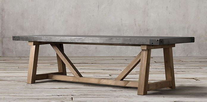 Restoration Hardware Railroad Table   House by the Bay Design