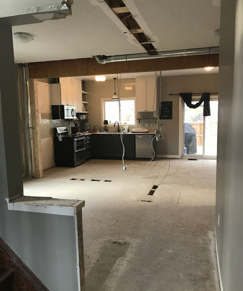 Wall Demo Main Floor | House by the Bay Design