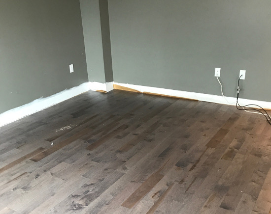 Quickstyle Maple Charcoal Hardwood | Main Floor Renovation | House by the Bay Design