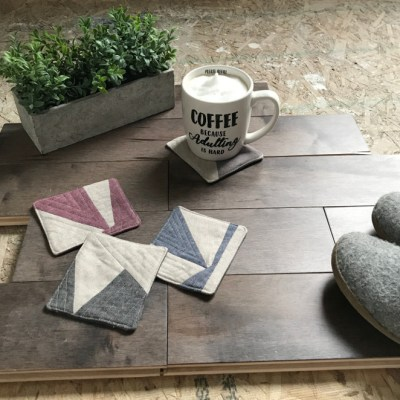 DIY Scrap Fabric Coasters with the Cricut Maker