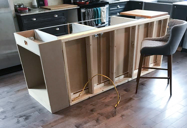 DIY Custom island with IKEA cabinets | One Room Challenge Kitchen Renovation | House by the Bay Design