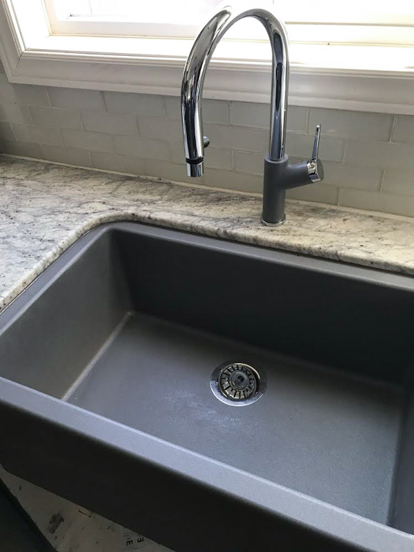 "BLANCO IKON 30"" apron front sink in metallic grey 