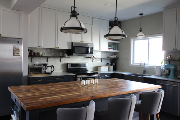 Butcher Block Kitchen Island | Kitchen Makeover Reveal | House by the Bay Design