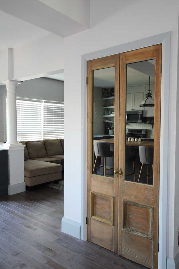 Pantry with Antique Doors | Kitchen Makeover Reveal | House by the Bay Design