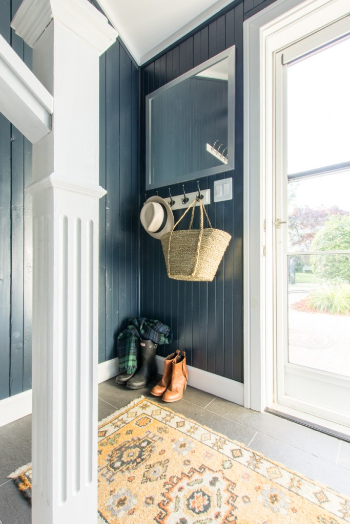 Back door mudroom storage