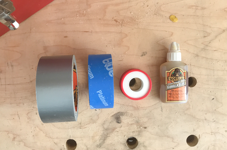 Duct tape, painters tape, water sealant tape and strong glue | Essential tools for homeowners and renters