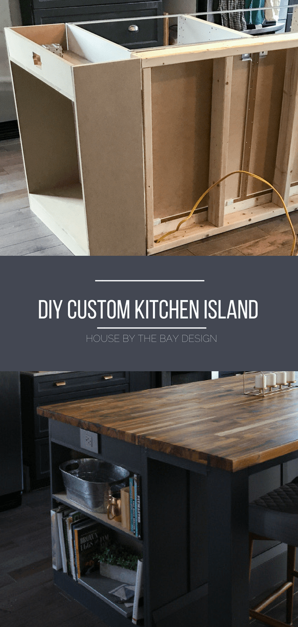 DIY Kitchen island before & after