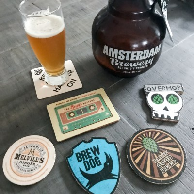 Preserved Cardboard Craft Beer Coasters